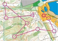 Τοπογραφικός διανυσματικός χάρτης Στοκ Εικόνες