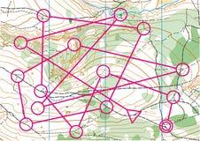 Τοπογραφικός διανυσματικός χάρτης Στοκ Φωτογραφίες