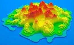 Τοπογραφικός χάρτης νησιών απεικόνιση αποθεμάτων