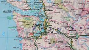 Τοπογραφικός χάρτης των ΗΠΑ. Σιάτλ - Σαν Φρανσίσκο απόθεμα βίντεο