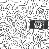 Τοπογραφικό σχέδιο χαρτών Άνευ ραφής υπόβαθρο με τις γραμμές περιγράμματος Στοκ φωτογραφίες με δικαίωμα ελεύθερης χρήσης