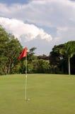 Τοποθέτηση γκολφ πράσινη Στοκ Φωτογραφίες