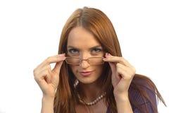 τοποθέτηση γυαλιών Στοκ φωτογραφίες με δικαίωμα ελεύθερης χρήσης