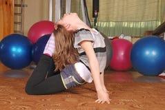 Τοποθέτηση κοριτσιών σε μια γυμναστική στοκ φωτογραφίες με δικαίωμα ελεύθερης χρήσης