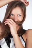 τοποθέτηση κοριτσιών Στοκ εικόνες με δικαίωμα ελεύθερης χρήσης
