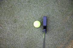 Τοποθέτηση σφαιρών γκολφ Στοκ Φωτογραφία