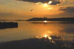 τοποθέτηση της ανατολής πάρκων Στοκ φωτογραφίες με δικαίωμα ελεύθερης χρήσης