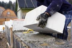 τοποθέτηση τούβλων Στοκ φωτογραφίες με δικαίωμα ελεύθερης χρήσης