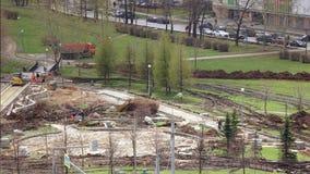 Τοποθέτηση των πορειών στο πάρκο φιλμ μικρού μήκους