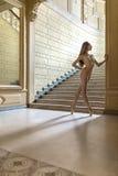 Τοποθέτηση Ballerina στο εσωτερικό στοκ εικόνα με δικαίωμα ελεύθερης χρήσης