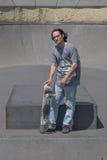 Τοποθέτηση Hunk με skateboard του Στοκ φωτογραφίες με δικαίωμα ελεύθερης χρήσης