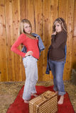 τοποθέτηση PIC κοριτσιών NIC κ&alpha Στοκ Φωτογραφία