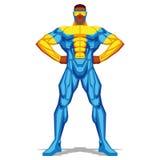 Τοποθέτηση Superhero που απομονώνεται στο άσπρο υπόβαθρο Στοκ Εικόνες