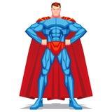 Τοποθέτηση Superhero που απομονώνεται στο άσπρο υπόβαθρο Στοκ εικόνα με δικαίωμα ελεύθερης χρήσης