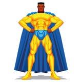 Τοποθέτηση Superhero που απομονώνεται στο άσπρο υπόβαθρο Στοκ φωτογραφία με δικαίωμα ελεύθερης χρήσης