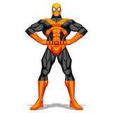 Τοποθέτηση Superhero που απομονώνεται στο άσπρο υπόβαθρο Στοκ Εικόνα