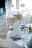 Τοποθετήσεις θέσεων στο γάμο Στοκ Φωτογραφία