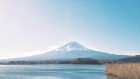 Τοποθετήστε την άποψη του Φούτζι σε Kawaguchiko Στοκ Εικόνες