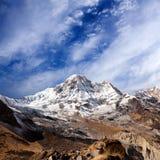 Τοποθετήστε την άποψη Annapurna από το στρατόπεδο βάσεων Annapurna στο Νεπάλ Ιμαλάια Στοκ φωτογραφία με δικαίωμα ελεύθερης χρήσης