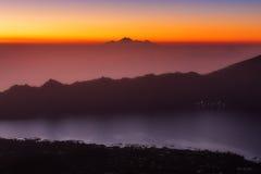 Τοποθετήστε την άποψη Batur Rinjani Στοκ φωτογραφία με δικαίωμα ελεύθερης χρήσης