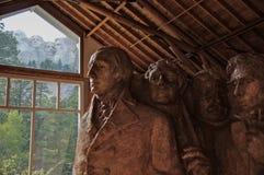 Τοποθετήστε την έννοια Rushmore στη δημιουργία Στοκ εικόνες με δικαίωμα ελεύθερης χρήσης