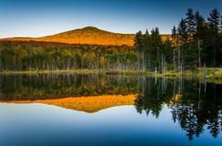 Τοποθετήστε την εξαπάτηση που απεικονίζει σε μια λίμνη στο άσπρο βουνό εθνικό Στοκ Εικόνα