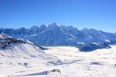 Τοποθετήστε την κορυφογραμμή βουνών Blanc στοκ φωτογραφίες με δικαίωμα ελεύθερης χρήσης