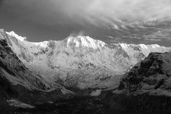 Τοποθετήστε την πανοραμική άποψη πρωινού Annapurna Στοκ Εικόνα