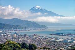 Τοποθετήστε την πόλη του Φούτζι και του Σιζουόκα Στοκ Φωτογραφία