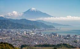 Τοποθετήστε την πόλη του Φούτζι και του Σιζουόκα Στοκ Εικόνες