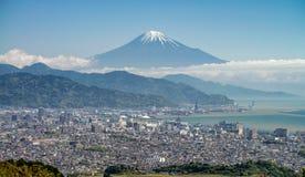 Τοποθετήστε την πόλη του Φούτζι και του Σιζουόκα Στοκ Εικόνα