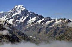 Τοποθετήστε τη σύνοδο κορυφής Cook, Νέα Ζηλανδία Στοκ Εικόνες