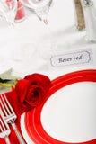 τοποθετήστε τη romatic τιμή τών παραμέτρων εστιατορίων Στοκ Εικόνες