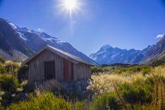 Τοποθετήστε τις κοιλάδες Tasman, Aoraki νότιο όρος πάρκων ΑΜ Cook εθνικό Στοκ εικόνα με δικαίωμα ελεύθερης χρήσης
