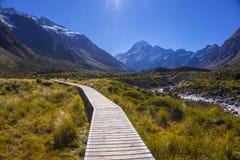Τοποθετήστε τις κοιλάδες Tasman, Aoraki νότιο όρος πάρκων ΑΜ Cook εθνικό Στοκ εικόνες με δικαίωμα ελεύθερης χρήσης