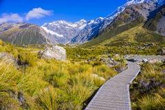 Τοποθετήστε τις κοιλάδες Tasman, Aoraki νότιο όρος πάρκων ΑΜ Cook εθνικό Στοκ φωτογραφία με δικαίωμα ελεύθερης χρήσης