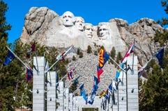 Τοποθετήστε το εθνικό μνημείο Rushmore στη νότια Ντακότα Πνεύμα θερινής ημέρας Στοκ Εικόνα