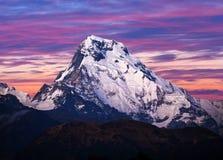 Τοποθετήστε το νότο Annapurna, Νεπάλ Ιμαλάια Στοκ Εικόνες