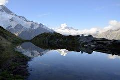 Τοποθετήστε το τοπίο βραδιού Cook, Νέα Ζηλανδία Στοκ Εικόνες