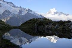 Τοποθετήστε το τοπίο βραδιού Cook, Νέα Ζηλανδία Στοκ εικόνα με δικαίωμα ελεύθερης χρήσης