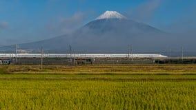 Τοποθετήστε το Φούτζι και το τραίνο σφαιρών Shinkansen Στοκ φωτογραφία με δικαίωμα ελεύθερης χρήσης