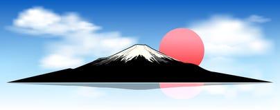 Τοποθετήστε το Φούτζι, στην αυγή ελεύθερη απεικόνιση δικαιώματος