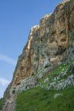 Τοποθετήστε το φρούριο σπηλιών απότομων βράχων Arbel Στοκ φωτογραφία με δικαίωμα ελεύθερης χρήσης