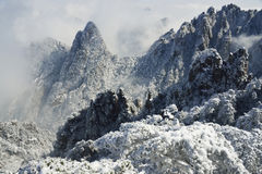 Τοποθετήστε το χιόνι Huangshan Στοκ Εικόνα