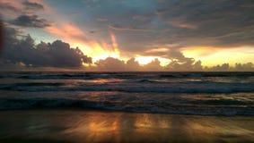 Τοποθετήστε το lavinia Σρι Λάνκα στο ηλιοβασίλεμα Στοκ Εικόνα