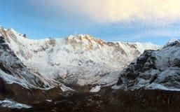 Τοποθετήστε Annapurna, από το νότιο στρατόπεδο βάσεων Annapurna Στοκ Φωτογραφίες