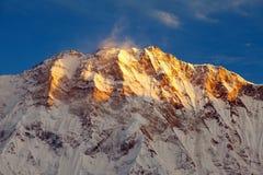 Τοποθετήστε Annapurna, από το νότιο στρατόπεδο βάσεων Annapurna Στοκ φωτογραφίες με δικαίωμα ελεύθερης χρήσης