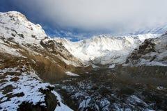 Τοποθετήστε Annapurna, από το νότιο στρατόπεδο βάσεων Annapurna Στοκ εικόνα με δικαίωμα ελεύθερης χρήσης