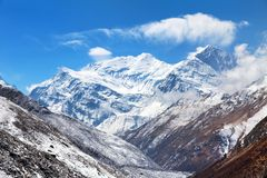 Τοποθετήστε Annapurna 3 ΙΙΙ, σειρά Annapurna Στοκ εικόνες με δικαίωμα ελεύθερης χρήσης