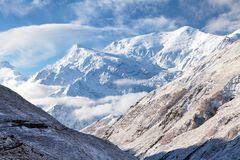 Τοποθετήστε Annapurna 3 ΙΙΙ, σειρά Annapurna Στοκ Φωτογραφίες